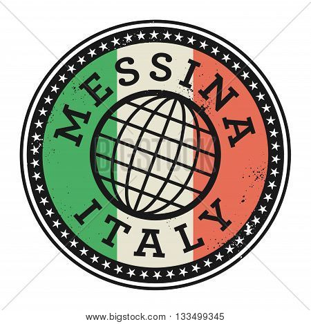 Grunge rubber stamp with the text Messina, Italy, vector illustration
