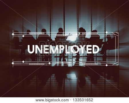 Unemployed Business People Graphic Concept
