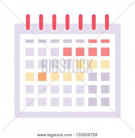 Calendar icon vector icon.