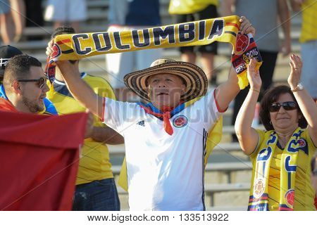 Colombia National Team  Fan During Copa America Centenario