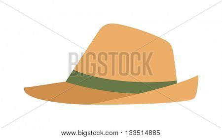 Cowboy sheriff leather hat