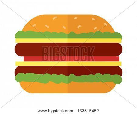 Burger vector illustration.