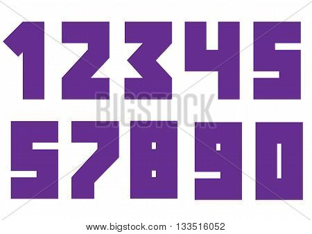 Violent bold numbers. Creative numbers, Vector illustration