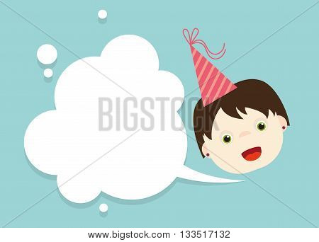 illustrated cards, celebration, birthday, holiday, wishes, kid, vector illustration, character,