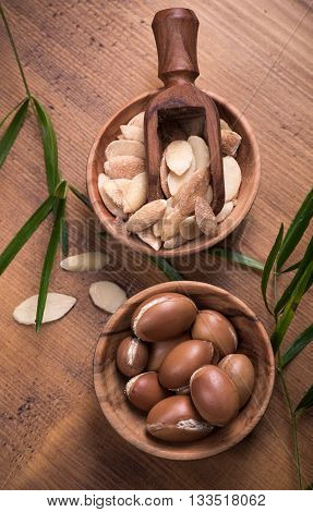 Composition of argan fruits and seeds used for skin care