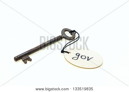 A wooden tag with