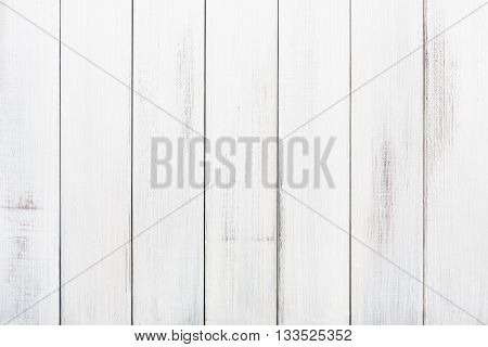 White wood table texture and background. White painted wood texture background.