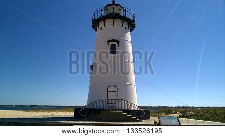 Edgartown Lighthouse on Martha's Vineyard Island Massachusetts, USA