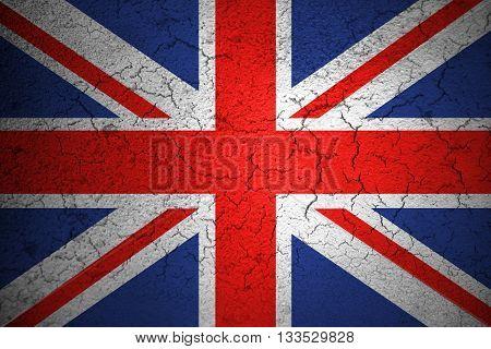 closeup of grunge flag of Union Jack uk england united kingdom flag