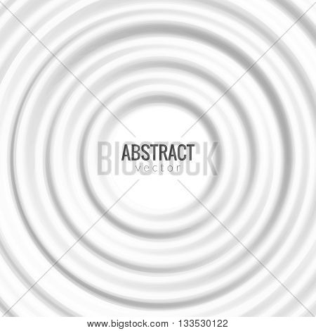 White rippled round background. Vector round design template