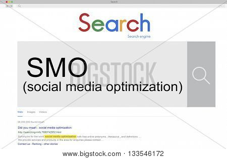 SMO Social Media Optimization Online Technology Networking Concept