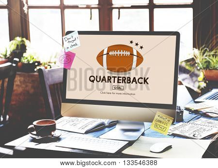 Quarterback American Football Athlete Game Concept