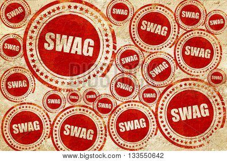 swag internet slang, red stamp on a grunge paper texture