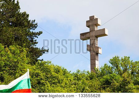 The monument at Okolchitza peak Bulgaria. Built as a obeisance to the Bulgarian national hero Hristo Botev and his detachment because of their self-sacrifice for the freedom of Bulgaria from Turkish yoke