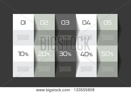 Table template. Schedule table. 3D table. Business table. Brochure table, schedule. Minimalistic table. Step by step.