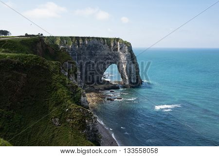 Cliffs Aval Of Etretat, Normandie