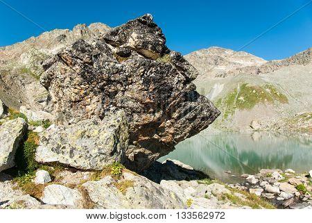 Sofia lake in Arkhyz Greater Caucasus mountains Karachay-Cherkessia Russia
