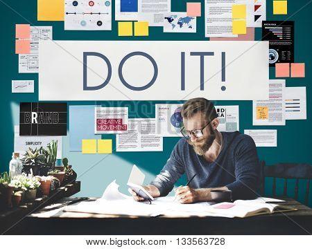 Do It Action Activity Proactive Plan Concept