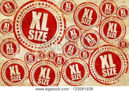 xl size, red stamp on a grunge paper texture