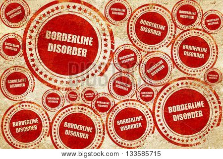 Borderline sign background, red stamp on a grunge paper texture