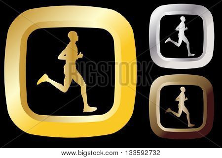 runner icon - vector