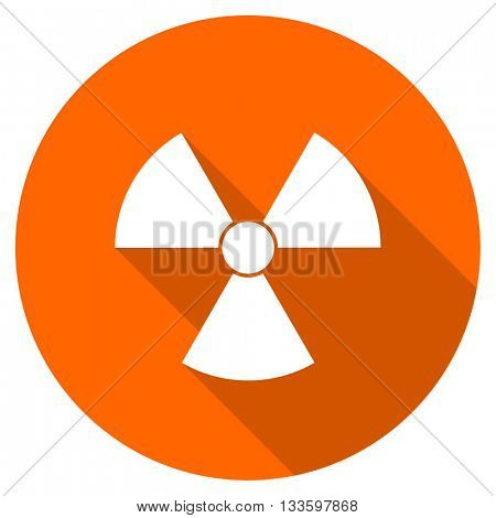 radiation vector icon, circle flat design internet button, web and mobile app illustration