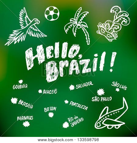 Greetings brazil card vector photo free trial bigstock greetings brazil card m4hsunfo