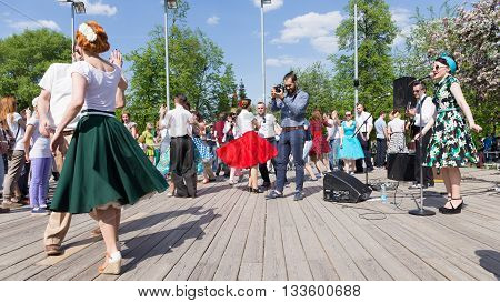 Moscow - May 9 2016: Dance workshops