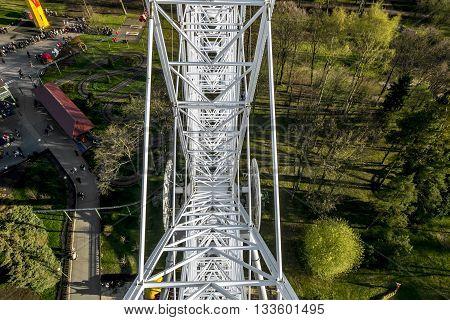 May 1 2016 .Saint-Petersburg. view from Ferris wheel at the amusement Park