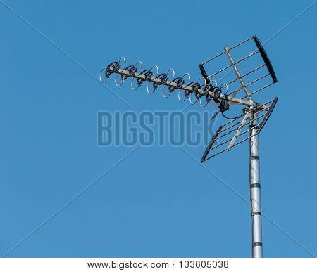 Outdoor TV Aerial mounted on a pole