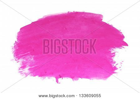 hot pink watercolor on white background for design