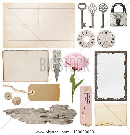 shabby chic - variety of decorative vintage objects