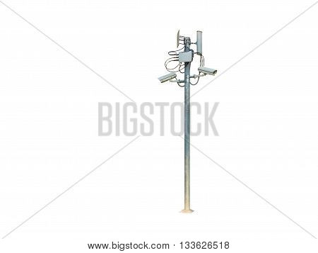 closed circuit camera on white background isolated