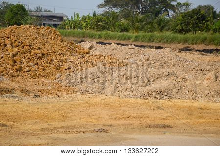 dry soil for agriculture in country Thailand