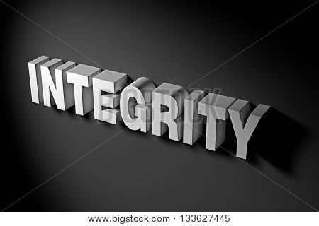 Integrity Concept In 3D Rendering Text