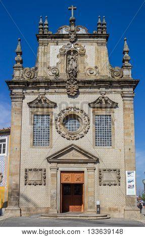 BRAGA, PORTUGAL - APRIL 26, 2016: Igreja Dos Terceiros in the center of Braga, Portugal