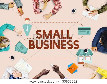 Small Business Niche Market Products Ownership Entrepreneur Concept poster