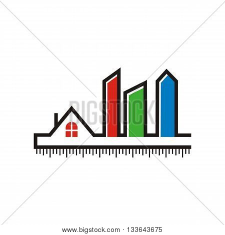 abstract logo design wall property architecture building icon