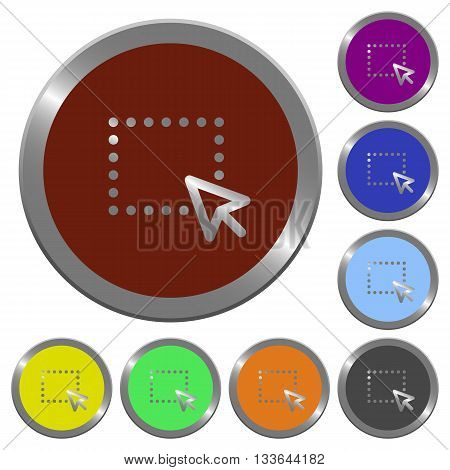 Set of color glossy coin-like drag buttons.
