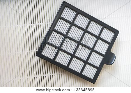 HVAC air conditioning filters for dust filtration. poster