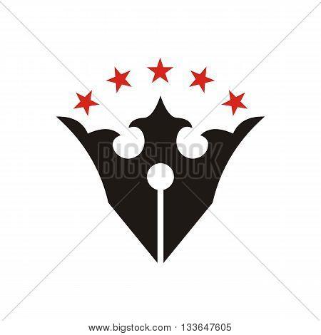 Star design logo crown majestic kingdom symbol