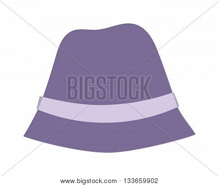 Woman panama hat isolated on white background and flat vector girls hat. Fashion sun protection yellwoman panama w hat and summer hat color design. Panama hat style accessory