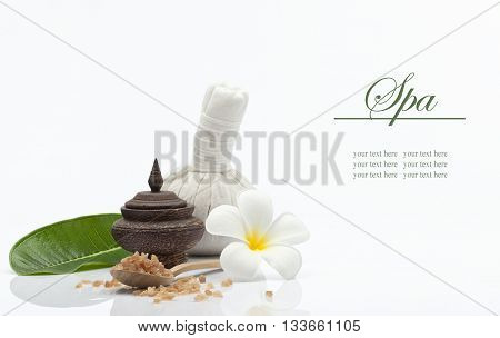 view of spa theme object on white background.