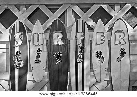 Surfer Girls Black And White