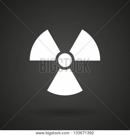 A Radio Activity Sign   White Icon On A Dark  Background