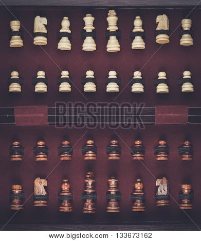 chessmen in the box full set of figures