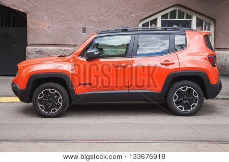 New Shining Red Jeep Renegade