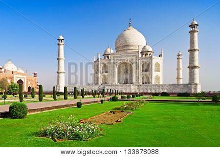 Taj Mahal Agra Uttar Pradesh in India