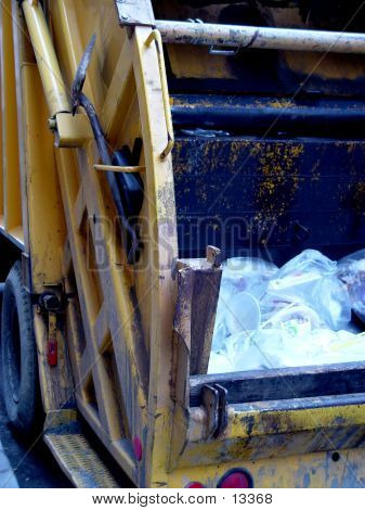 Back Of Garbage Truck