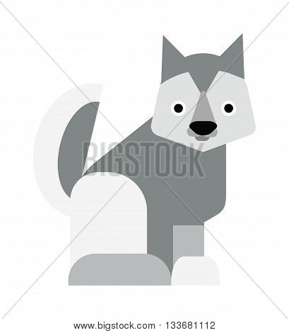 Eskimo dog white samoyed puppy barking and eskimo dog vector cartoon animal. Eskimo dog cute samoyed canine purebred pet and fluffy husky companion eskimo dog. Friend furry husky puppy.